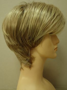 Krótka peruka blond na ciemniejszej podstawie asymetryczna