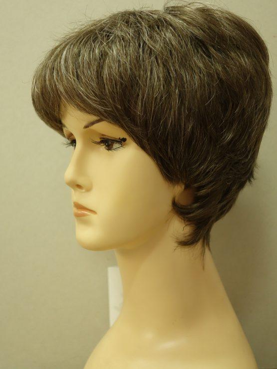 Krótka peruka brąz z refleksami