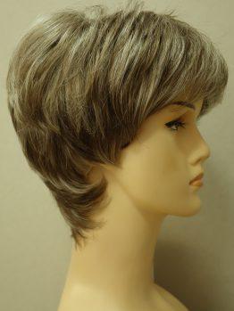 Krótka peruka popielaty blond
