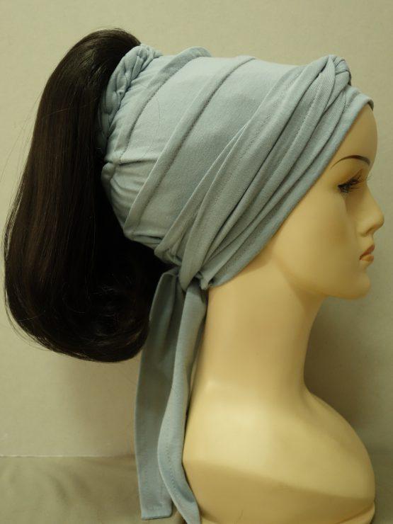 Włosy na opasce - półdługie ciemny brąz
