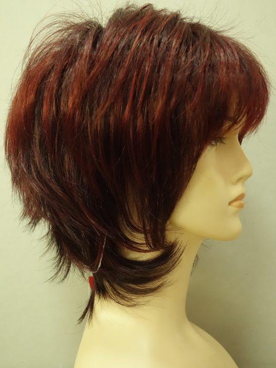 Krótka peruka ruda wycieniowana