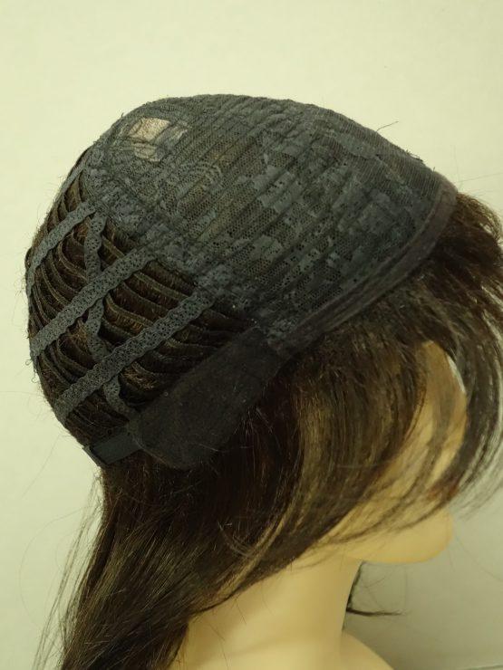Półdługa peruka ciemny brąz wycieniowana