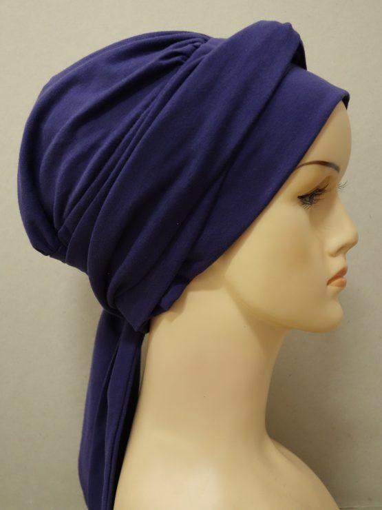 Fioletowa chusta modny wzór