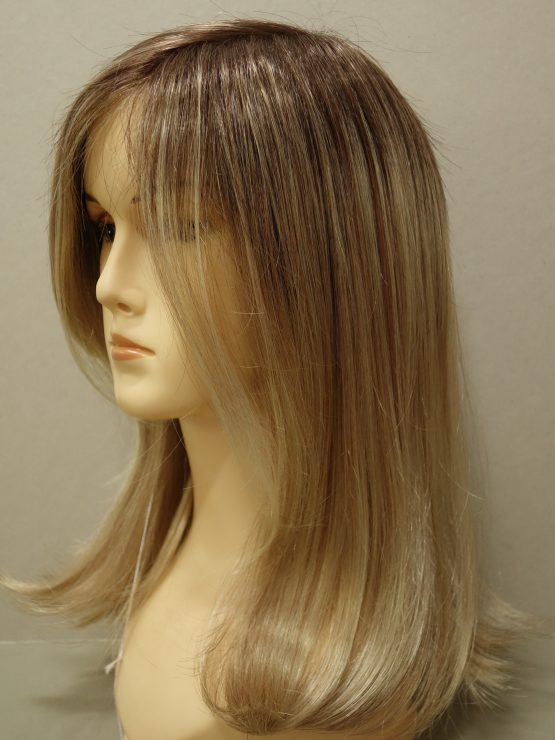 Półdługa peruka w różnych odcieniach blondu