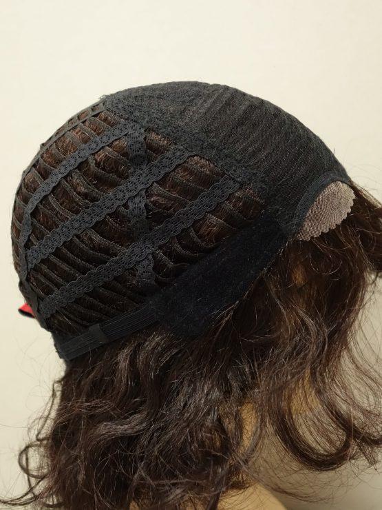 Krótka peruka ciemny brąz kręcona