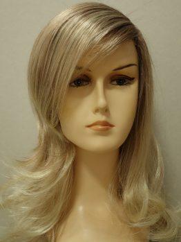 Długa peruka jasny blond z refleksami pocieniowana