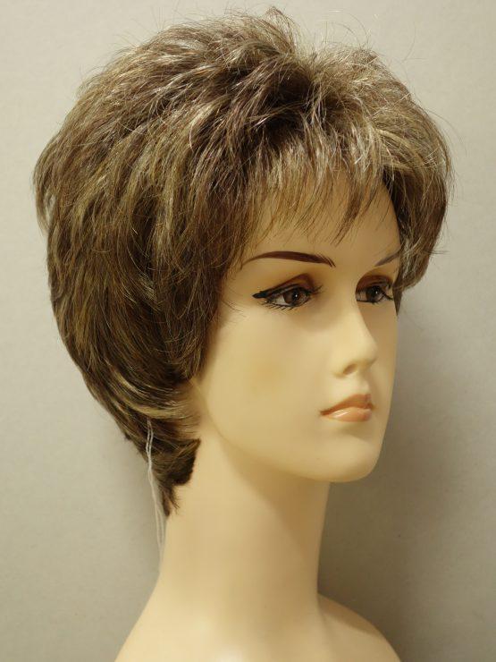 Krótka peruka ciemny blond z refleksami