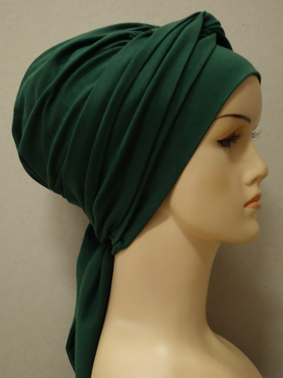 Zielona chusta modny wzór