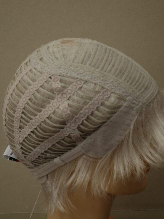 Krótka peruka siwa biel