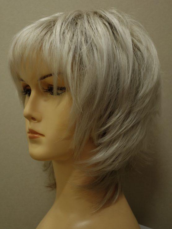Krótka peruka biały blond wycieniowana