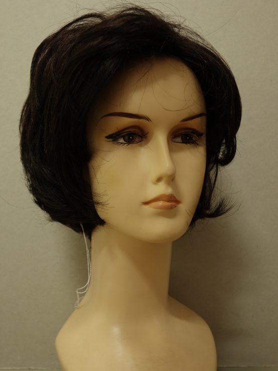 Krótka peruka ciemny brąz lekko kręcona
