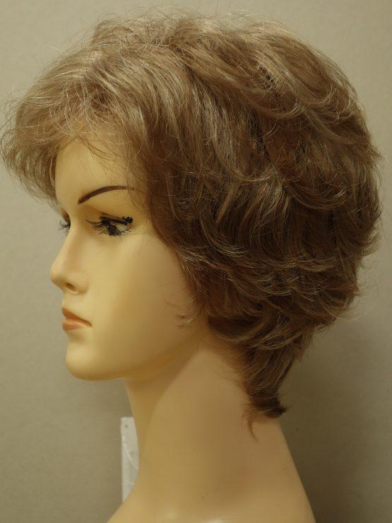 Krótka peruka popielaty blond podkręcona