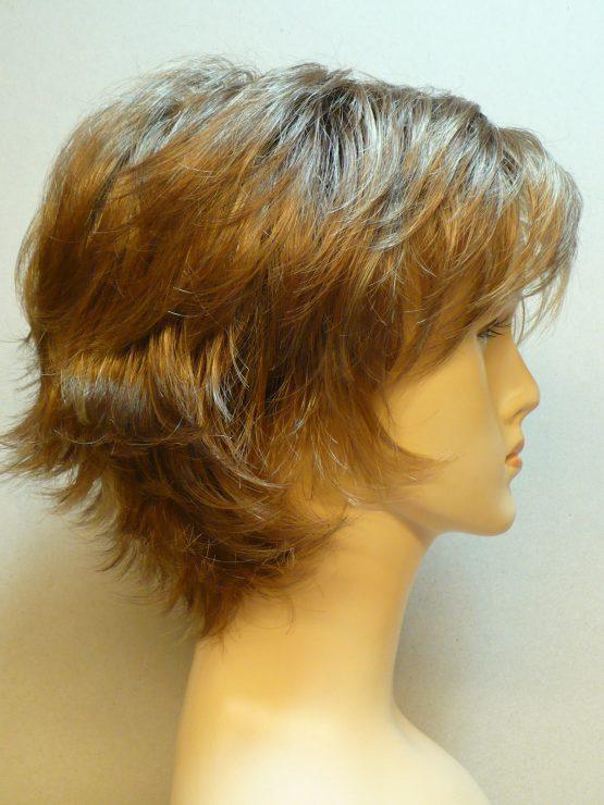 Krótka peruka cynamonowy blond