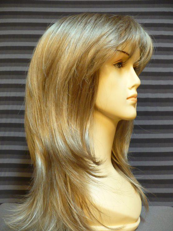 Długa peruka popielaty blond