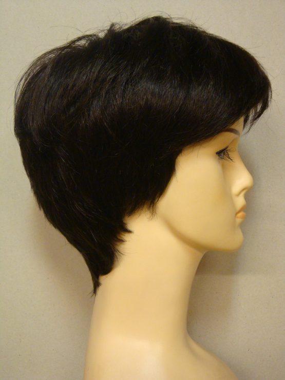Krótka peruka w kolorze ciemny brąz