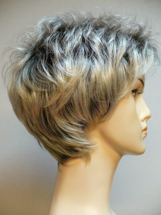"Krótka peruka jasny blond ""jeżyk"""