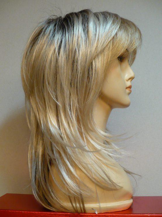 Długa peruka platynowy blond