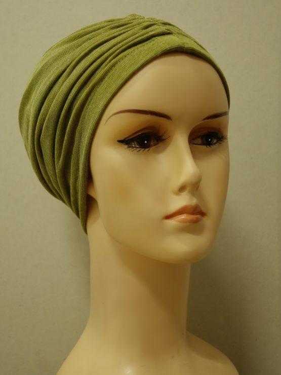 Zielony czepek drapowany