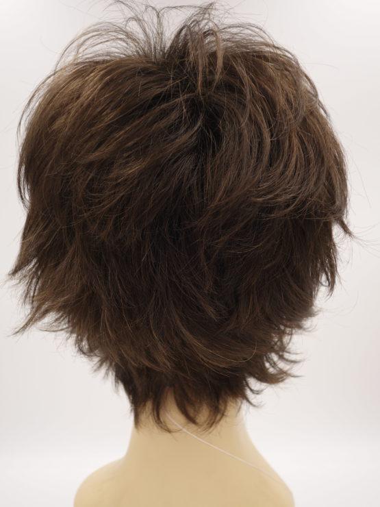 Krótka peruka brąz wycieniowana