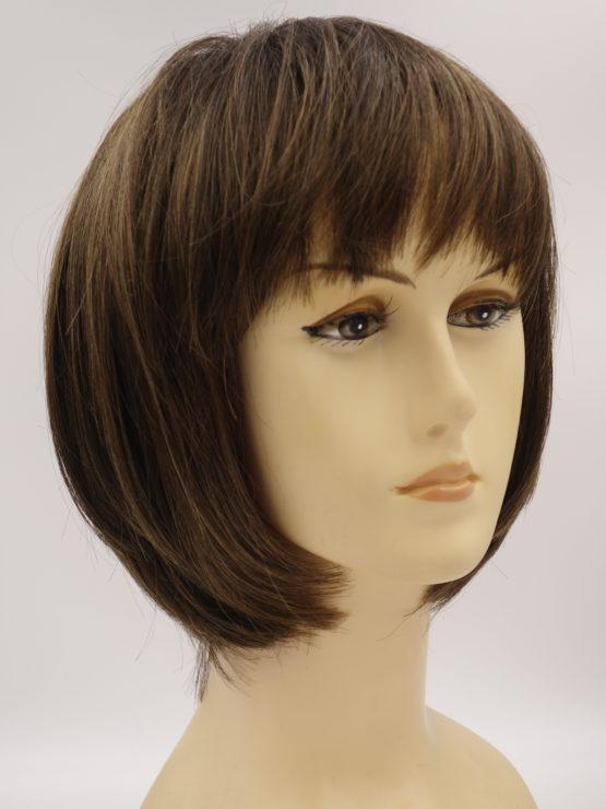 Krótka peruka brąz z delikatnymi refleksami