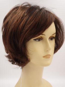 Krótka peruka w kolorze kasztanowym lekko kręcona