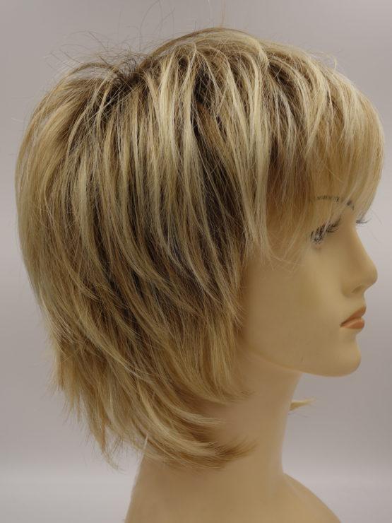 Krótka peruka blond wycieniowana
