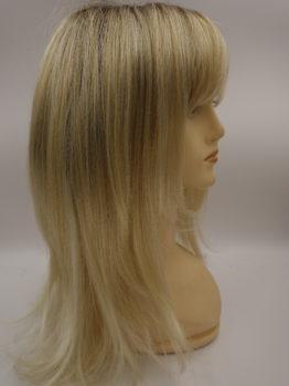 Długa peruka platynowy blond na ciemniejszej podstawie