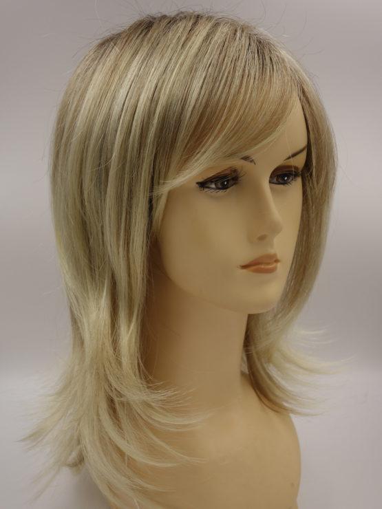 Długa peruka jasny blond na ciemniejszej podstawie