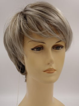 Krótka peruka popielaty blond na ciemniejszej podstawie