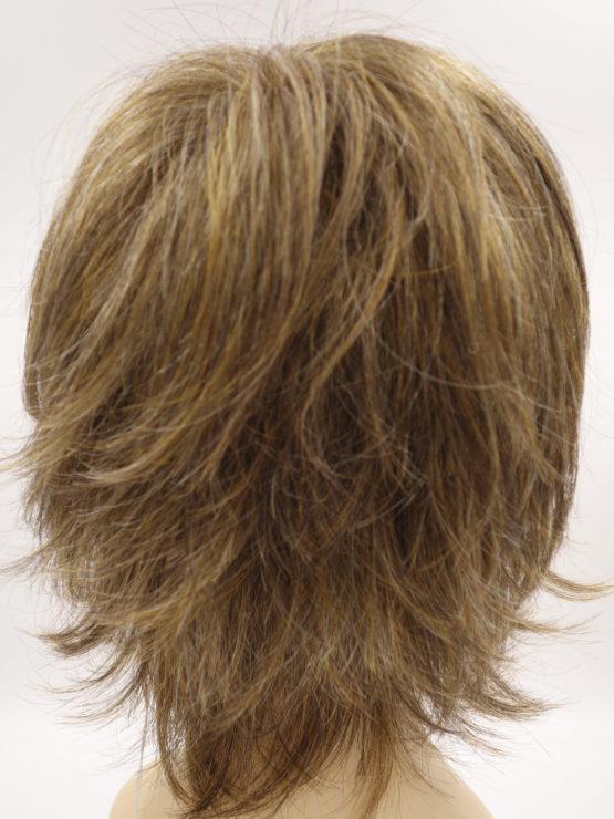 Krótka peruka brązowa z refleksami