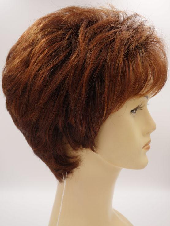 Krótka peruka ruda na ciemniejszej podstawie