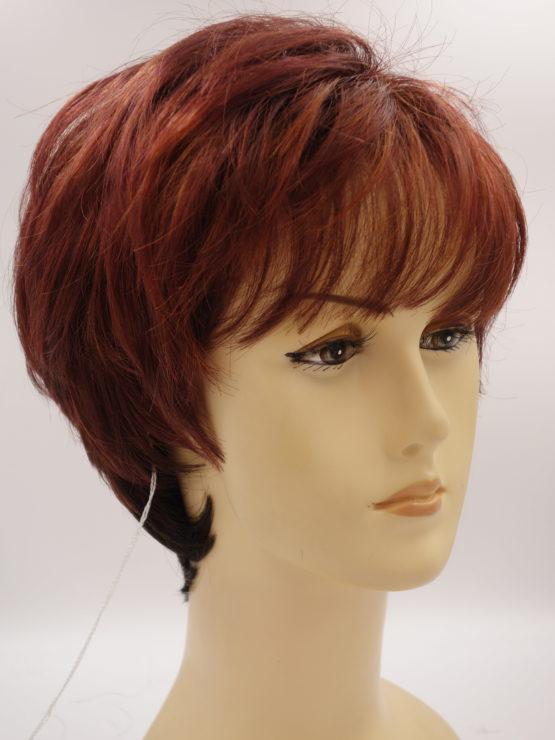 Krótka peruka w kolorze wiśni