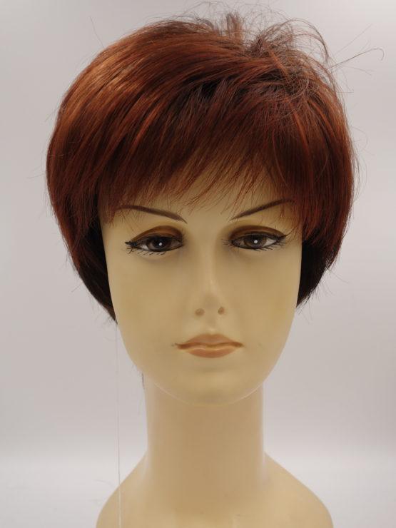 Krótka peruka ruda