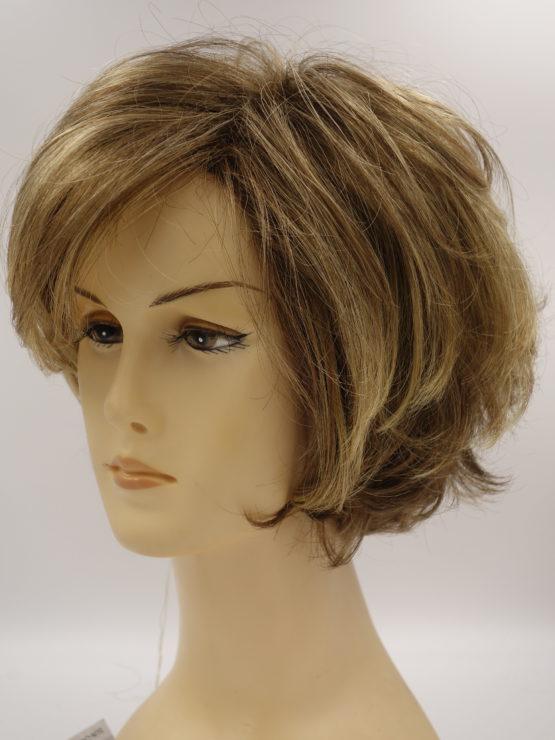 Krótka peruka w kolorze ciemny blond lekko kręcona