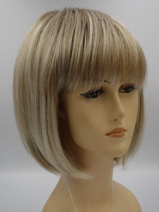 Krótka peruka popielaty blond na ciemniejszym spodzie