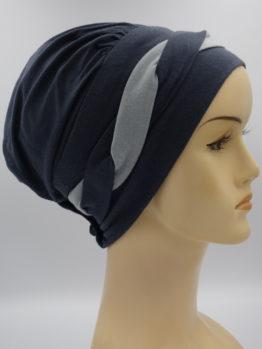 Grafitowa modna czapka
