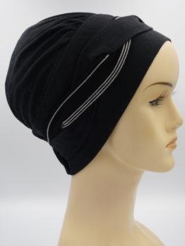 Czarna modna czapka