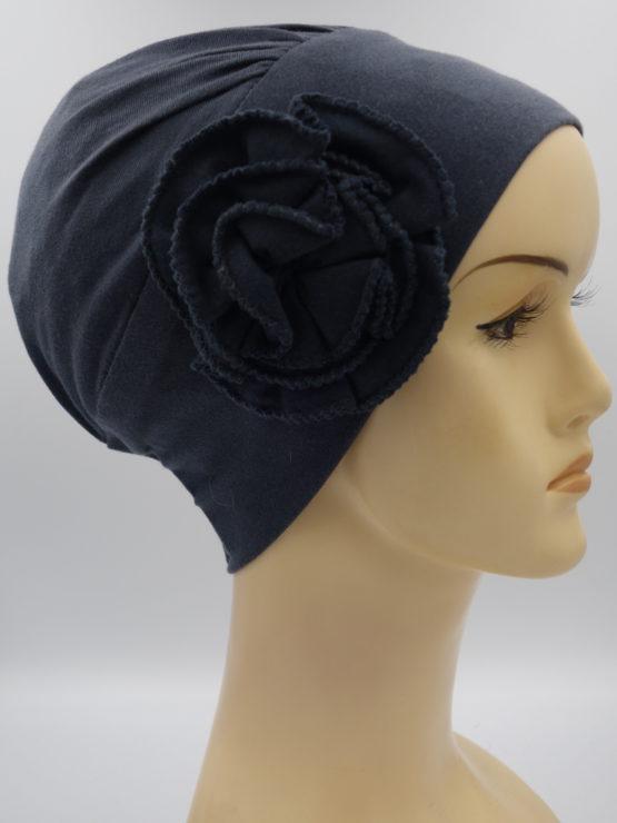Ciemny popiel modna czapka