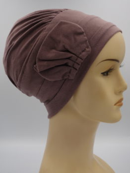 Wrzosowa modna czapka