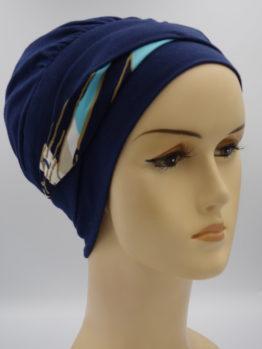 Granatowa modna czapka
