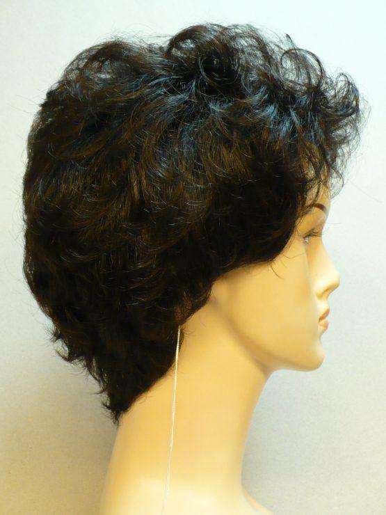 Krótka peruka kręcona ciemny brąz