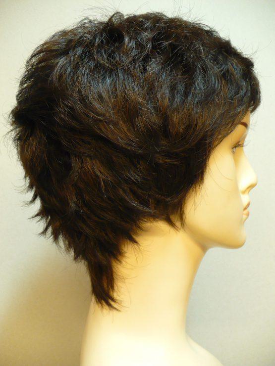 Krótka peruka ciemny brąz wycieniowana