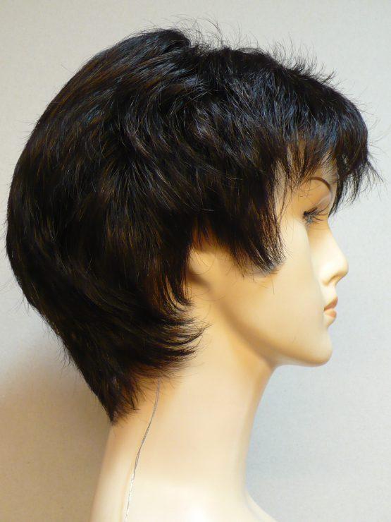 Krótka peruka brąz