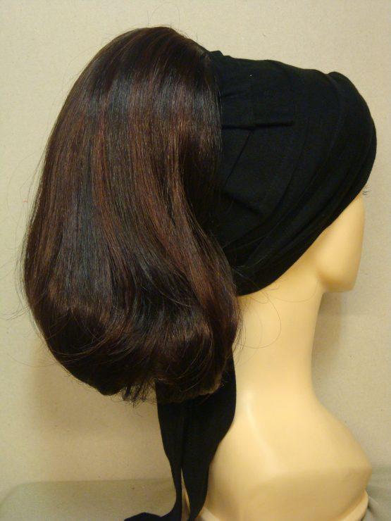 Włosy na opasce - półdługi brąz z rudawymi refleksami