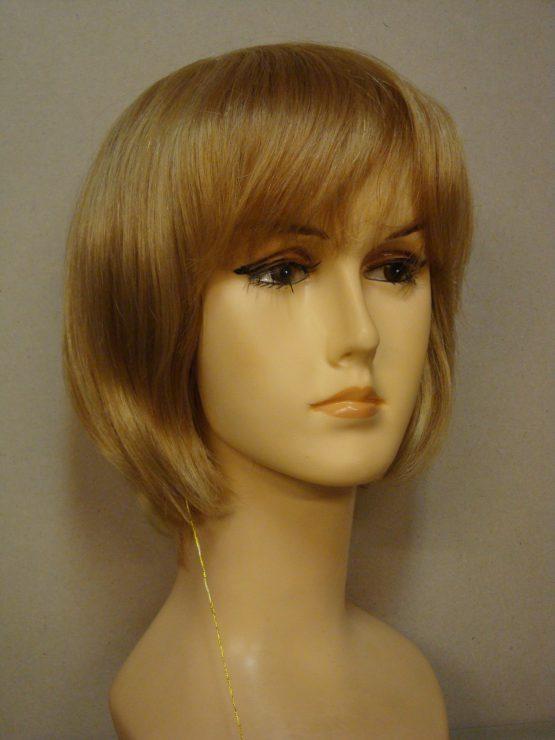 Krótka peruka z włosów naturalnych blond