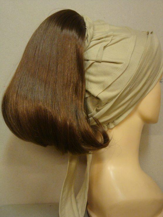 Włosy na opasce - półdługi ciemny blond
