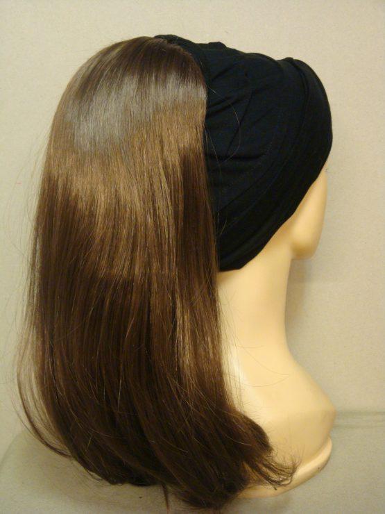 Włosy na opasce - długi szatyn