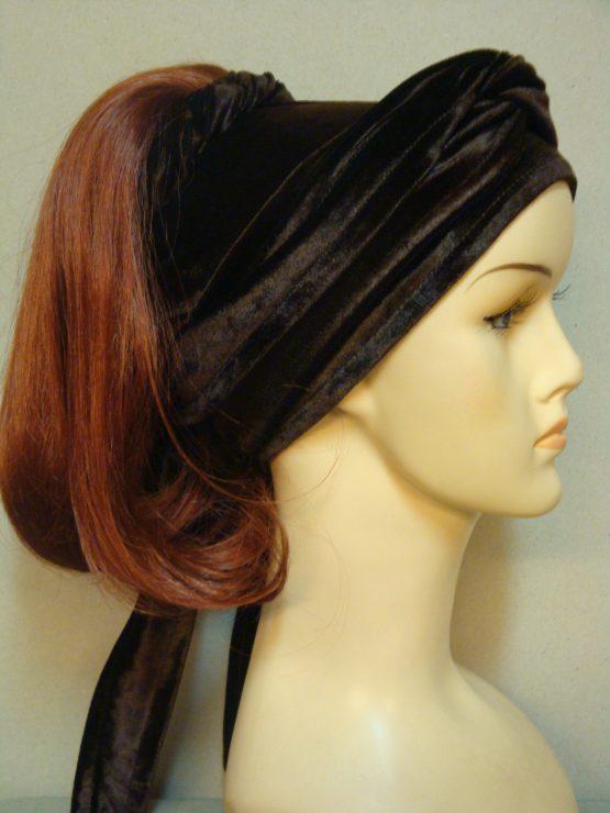 Włosy na opasce - półdługi rudy