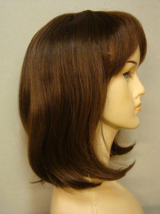 Półdługa peruka z włosów naturalnych jasny brąz