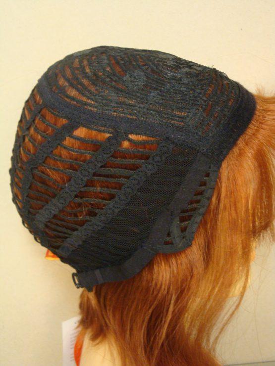 Półdługa peruka z włosów naturalnych miedziana